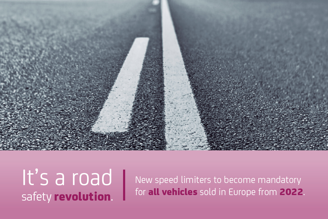 New speed limiters to become mandatory for all vehicles sold in Europe from 2022.